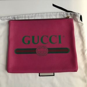 Gucci Italian leather portfolio
